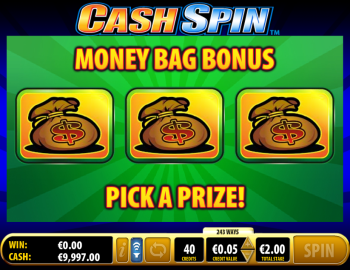 Cash Spin – Moneybag Bonus