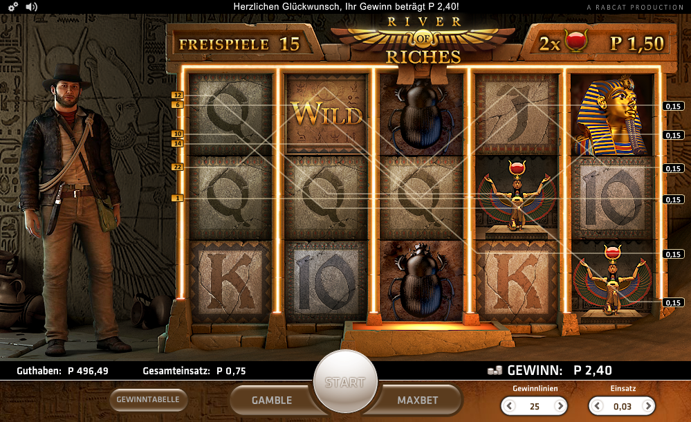 Play No Download River Of Riches Slot Machine Free Here