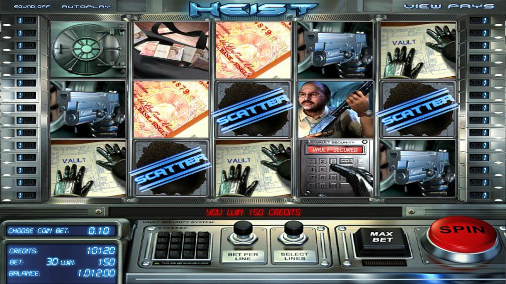 The Heist Slot Machine - Play this Simbat Casino Game Online