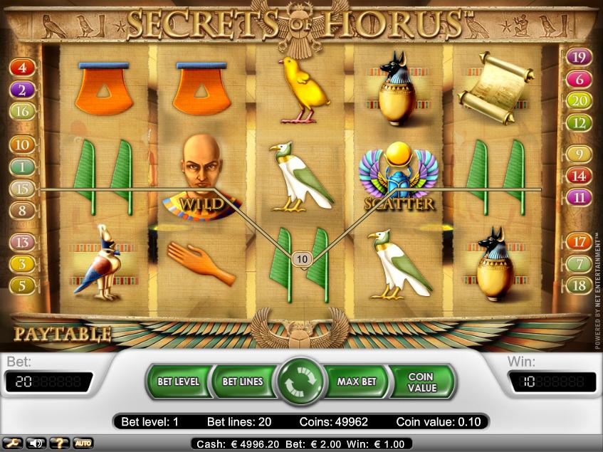 Treasure of Horus Slot Machine - Play Penny Slots Online