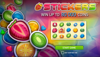 Stickers Slot – Intro Screen