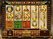 Scrolls or Ra HD Slot