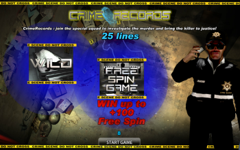 Crime Records – Intro Screen