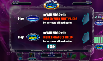 DoublePlay Super Bet – Intro Screen 2