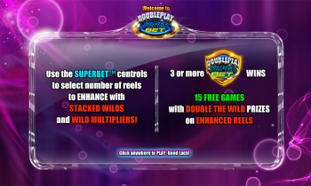 DoublePlay Super Bet – Intro Screen