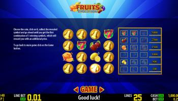 Fruits Evolution – Bonus Game