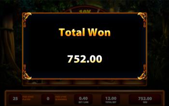 Montezuma Feature Win Amount