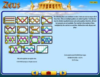 Zeus – Paytable 3