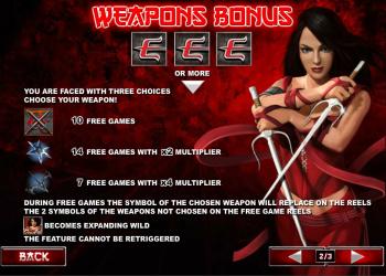 Elektra – Weapons Bonus