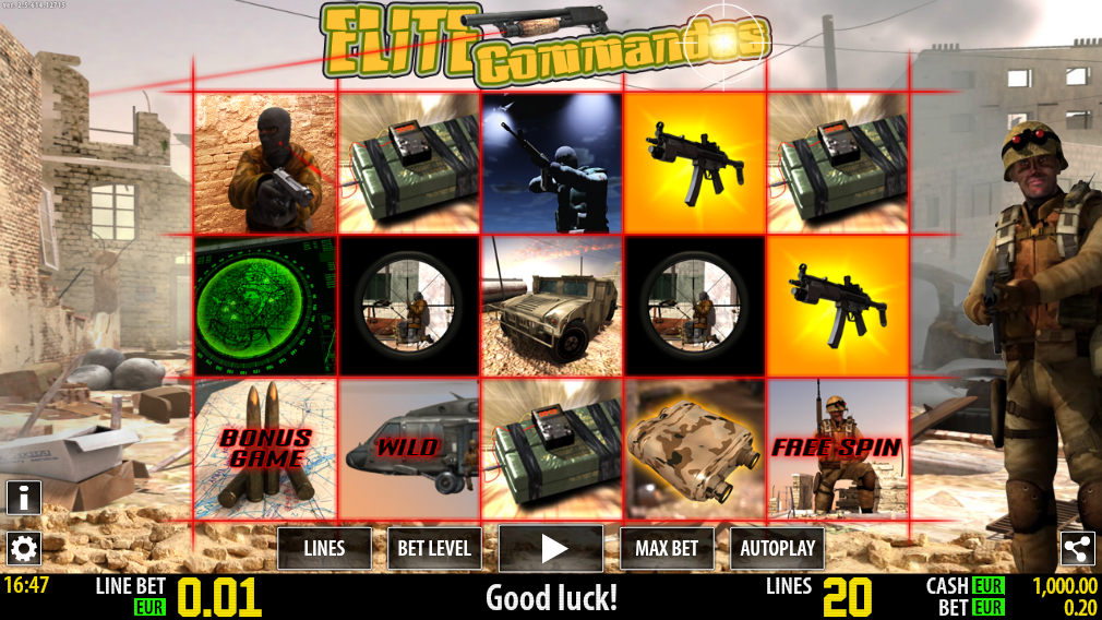 Elite Commandos Slot Machine - Play this Video Slot Online
