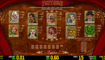 Freaky Fortune – Paytable