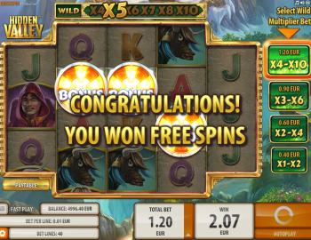 Hidden Valley – Free Spin Win