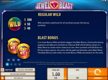 Jewel Blast – Paytable 1
