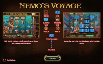 Nemo's Voyage – Intro Screen