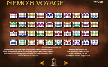 Nemo's Voyage – Paytable 2