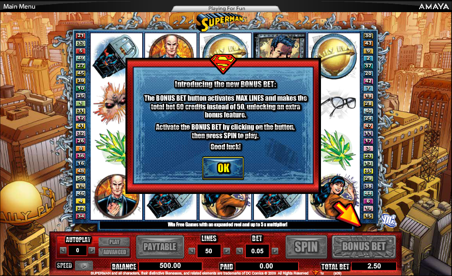 play superman the movie slot free