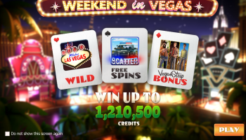 Weekend in Vegas – Intro Screen