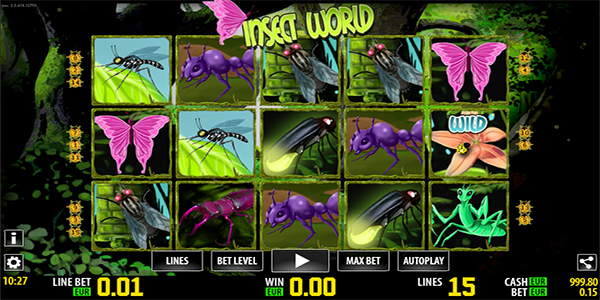Insect World Slot Machine - Play the Free Casino Game Online