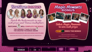 Bridesmaids – Paytable 4