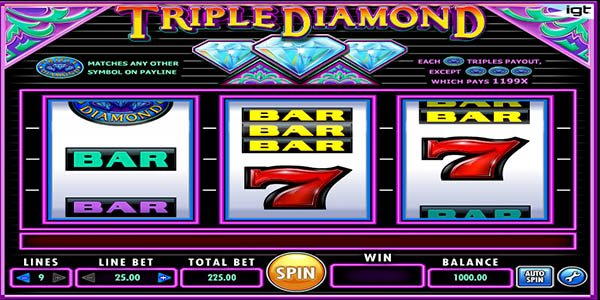 triple diamond deluxe slot machine online