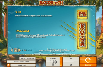 Razortooth Slot Machine – Paytable 2
