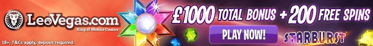 200 Free Spins for Starburst