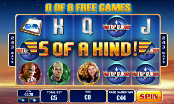 Top Gun Slot – 5 of a Kind