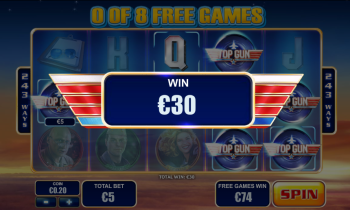 Top Gun Slot – Free Spins Win