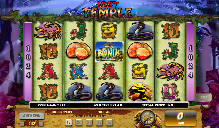 The Hidden Temple Slots - Play this Video Slot Online