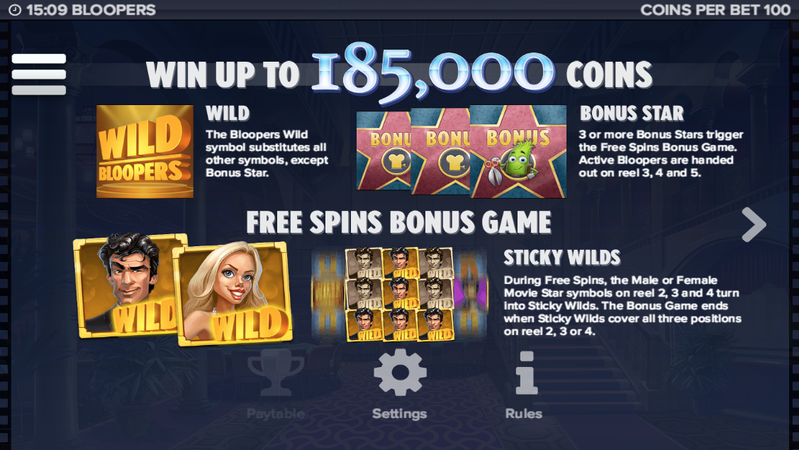 Bloopers Slot Machine