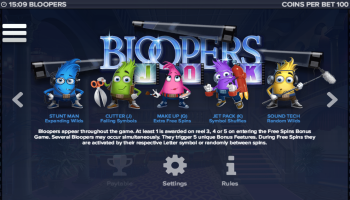Bloopers – Paytable 2