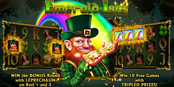 Emerald Isle slot - follow the rainbow at Casumo