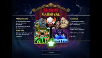 Creepy Carnival Slot – Splash Screen