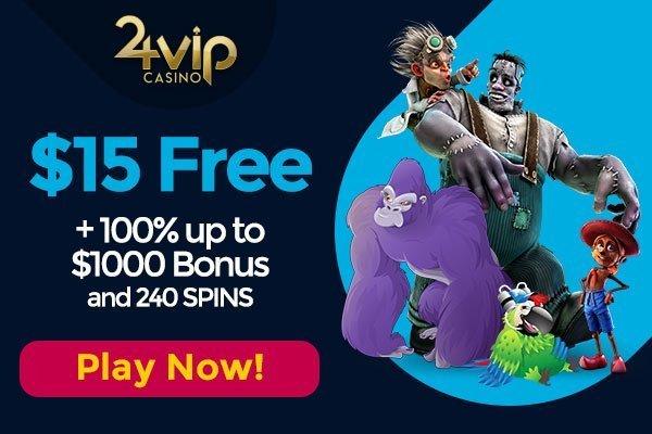 $15 Free at 24VIP Casino