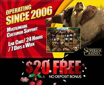 Play $20 Free Superior Casino