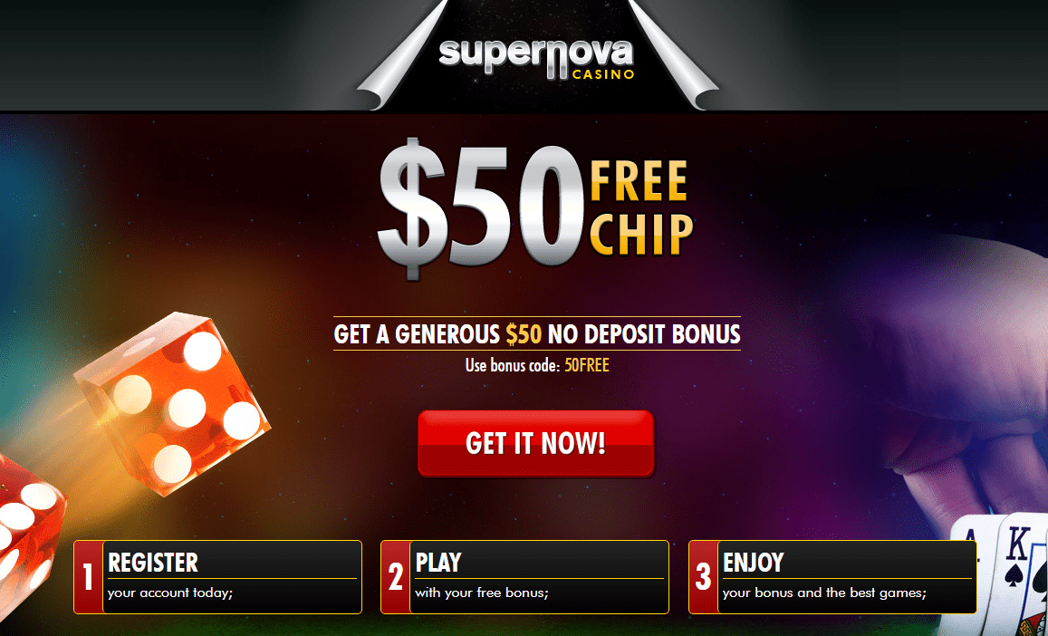 Supernova Casino $50 Free