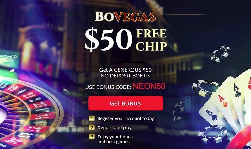 BoVegas 50 Free Chip